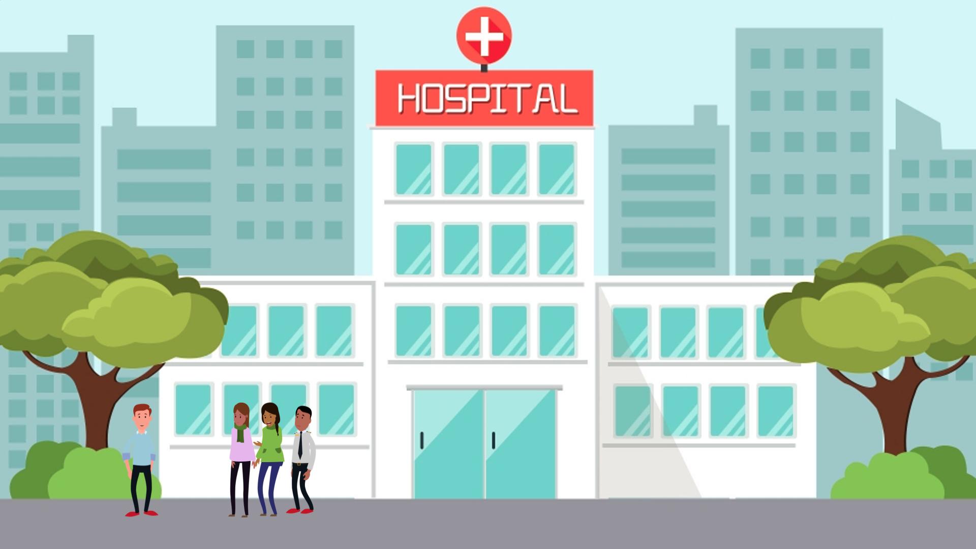 CS A Unit 5 illustration of a hospital
